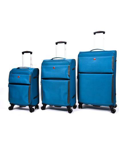 סט מזוודות SWISS PRO בצבע כחול