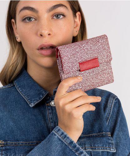 ארנק עור דגם ברנדה אדום | עמנואל