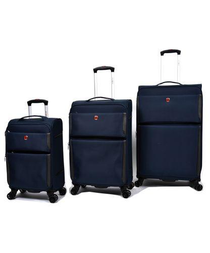 סט מזוודות SWISS PRO בצבע כחול כהה