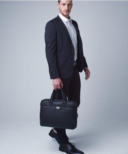 תיק עסקים מעור לגבר דגם קלינטון