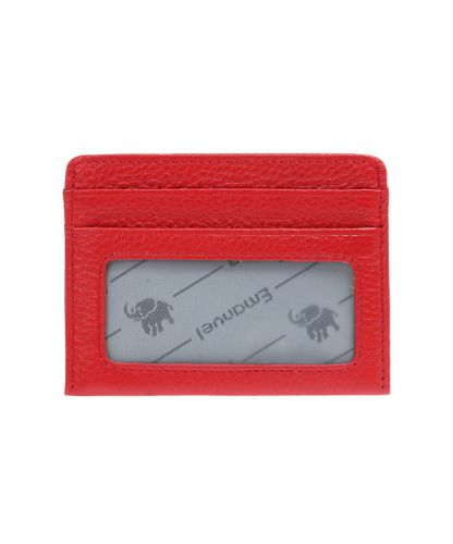 ארנק סלים חלון I עמנואל -אדום