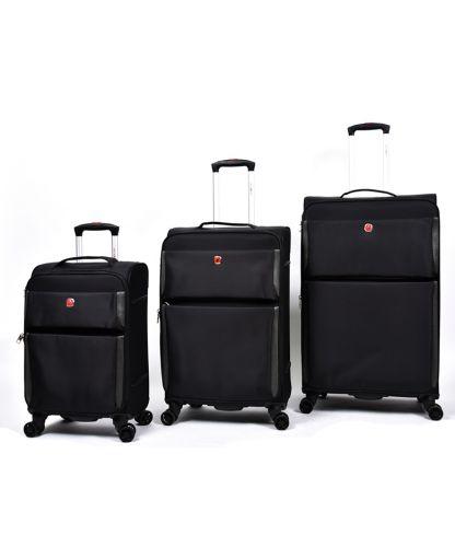 סט מזוודות SWISS PRO בצבע שחור
