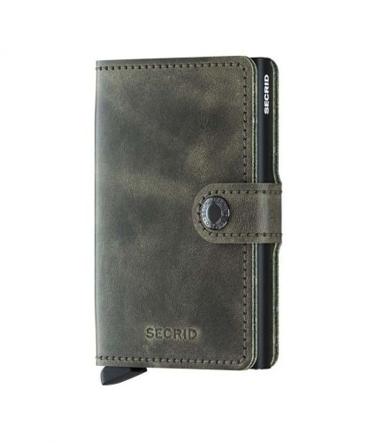 ארנק אלומיניום+ עור  Secrid Mini Wallet