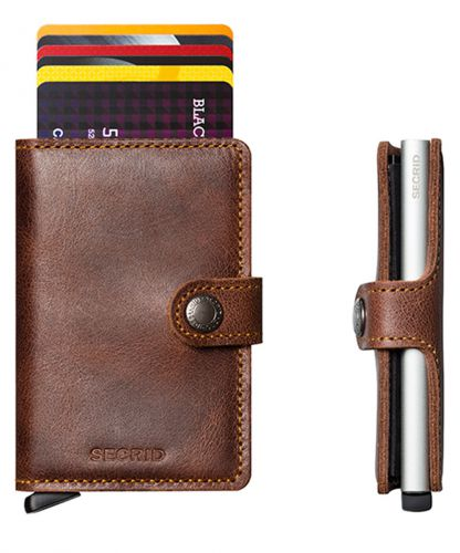 ארנק אלומיניום + עור RFID Secrid Mini Wallet